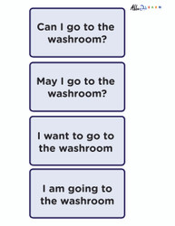 Speech  Washroom Flashcards: Learning Washroom Skills and Speech:  PAGES 2