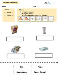 Matching Words and Printing, Social Studies, Earth Day: 8 Pages