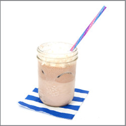 Iced Hot Chocolate with Whipped Cream Drink Visual Recipe And Comprehension Sheets: Pages 17