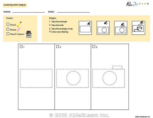 Drawing With Shapes - How to Draw a Camera