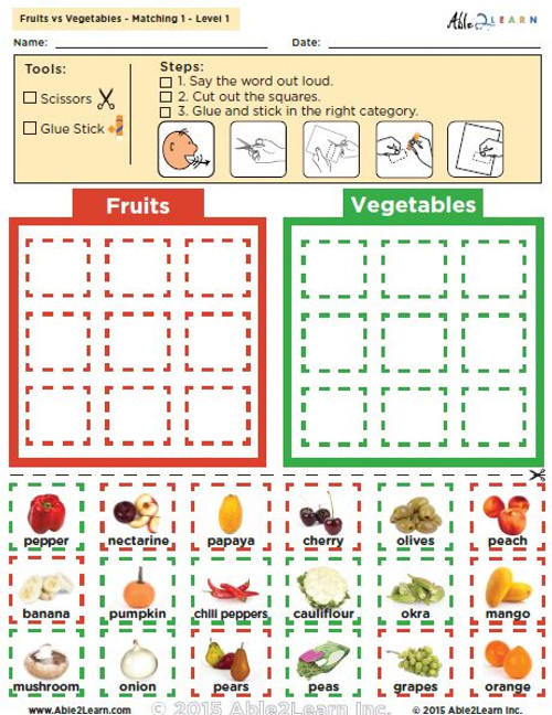 Fruits vs. Vegetables: The  Food Groups - Level 1 Pages 8