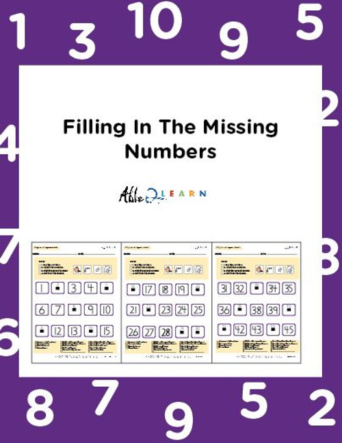 Learn Counting Numbers 1-100 Level 1- Pages 9