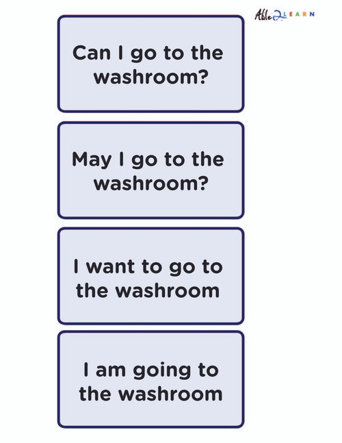 Speech  Washroom Flashcards: Learning Washroom Skills and Speech:  PAGES 2
