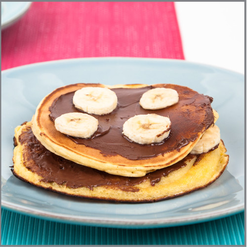 Pancakes  With Banana and Chocolate ( Aunt Jemima) Visual Recipe And Comprehension Sheets: Pages 29
