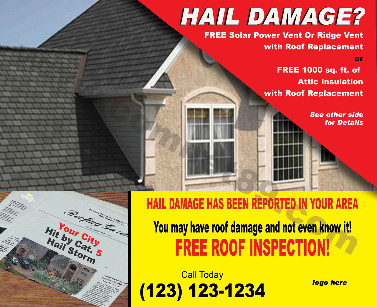 Hail Damage 08 EDDM Postcard - 6.5 x 8 - Front