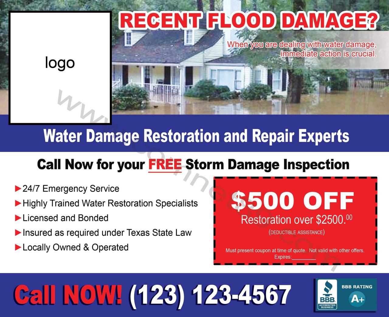 Flood Damage 04 EDDM Postcard