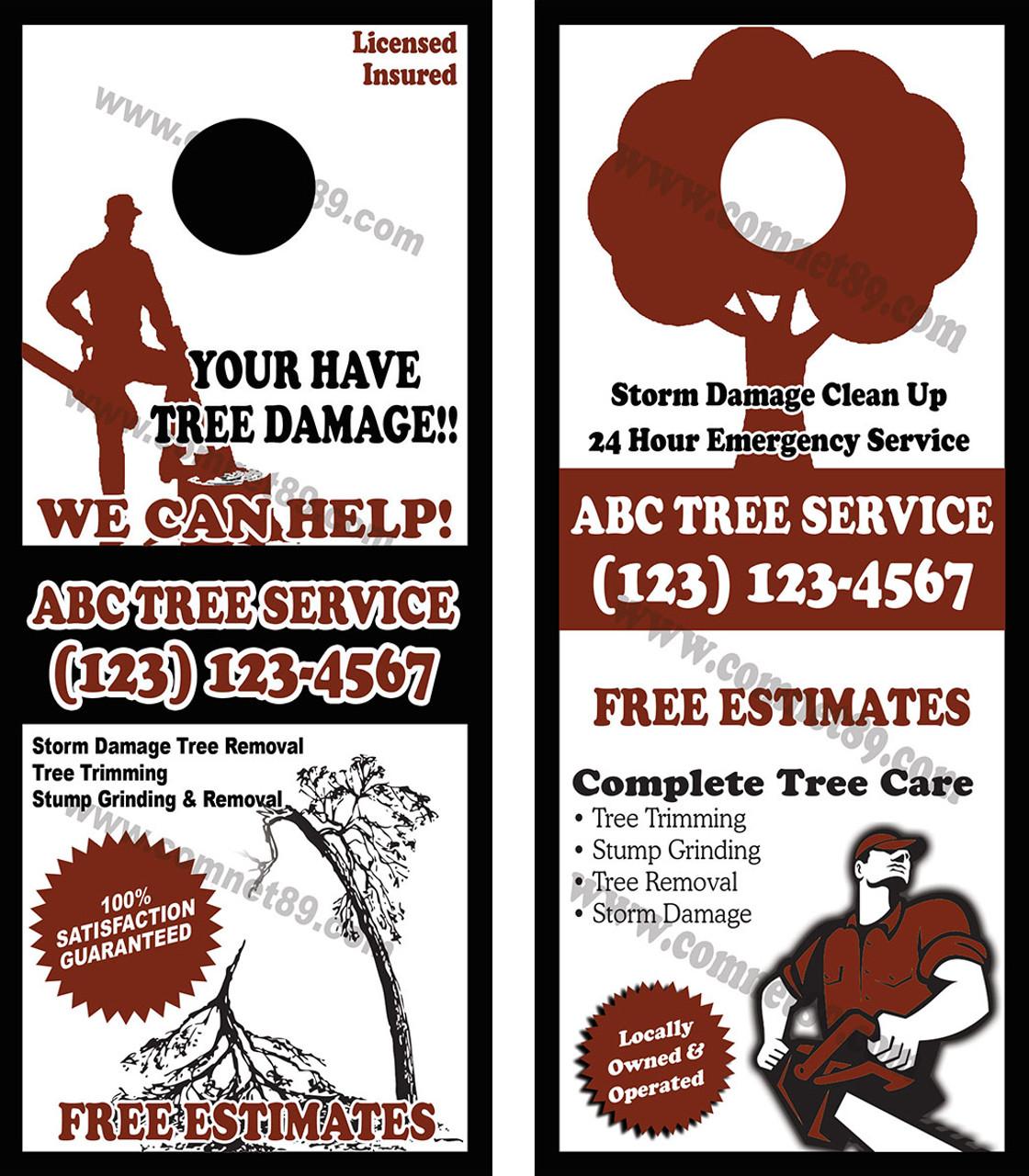 Tree Service Door Hanger 02