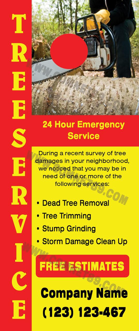 Tree Service Door Hanger 04
