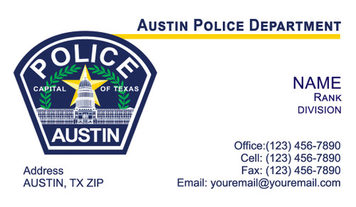 Austin police department business cards apd business card 1 colourmoves
