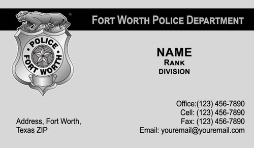 FWPD Business Card #7