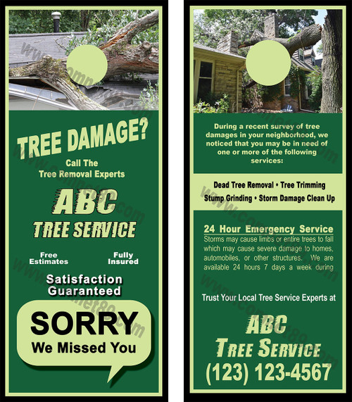 Tree Service Door Hanger 01