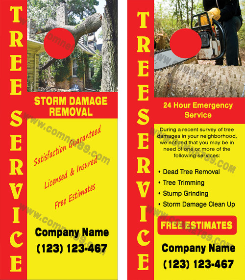 Tree Service Door Hanger 04