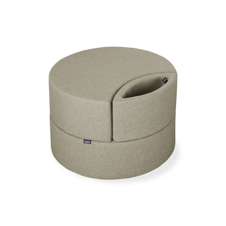 single ottoman, khaki