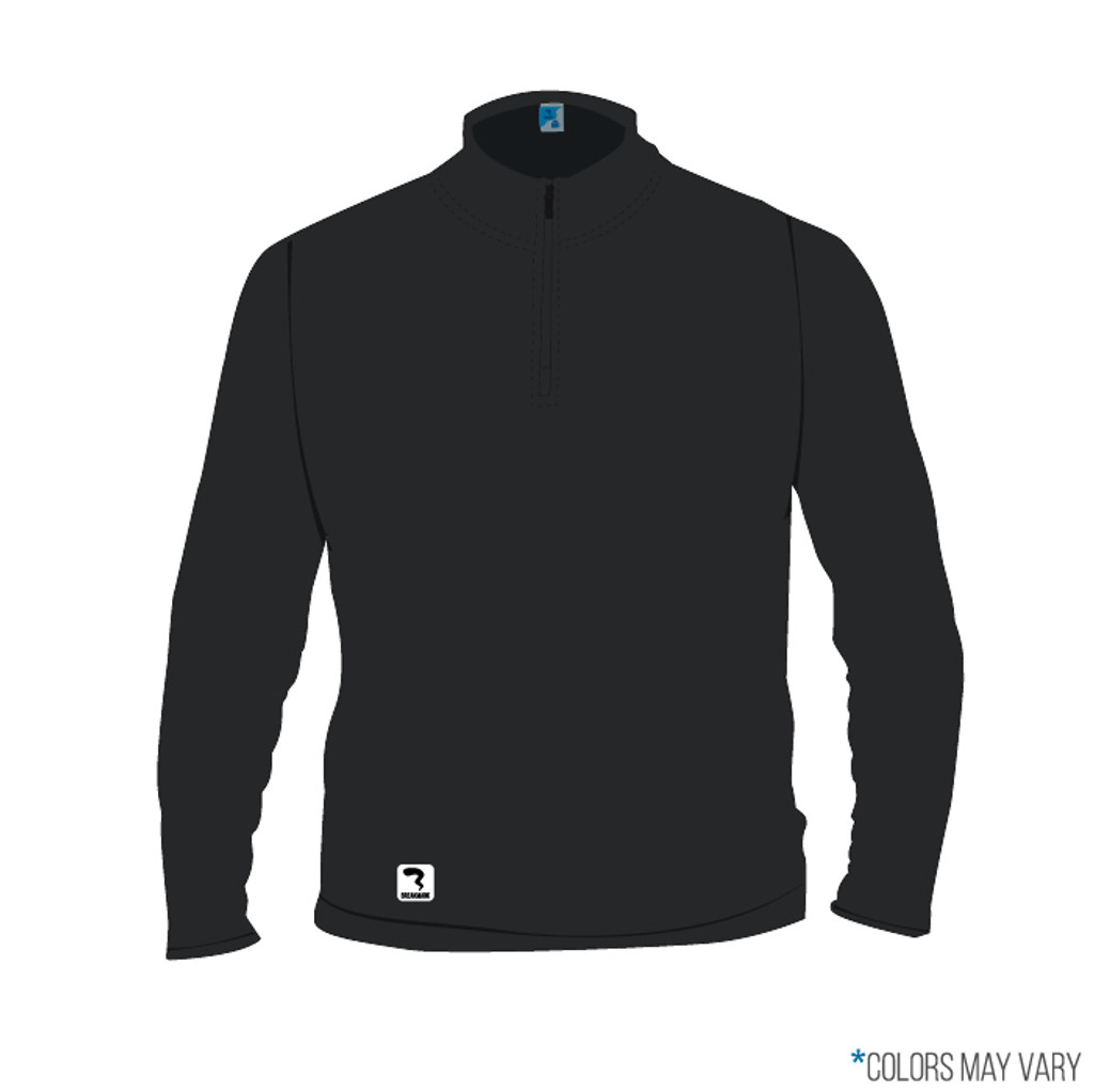 Breakmark Screen Print Quarter Zip Front Dark