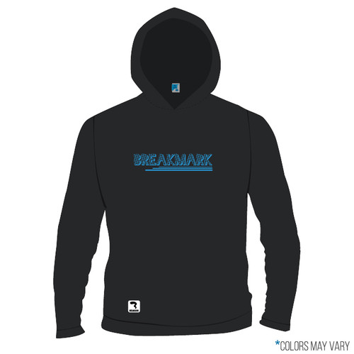 Breakmark Screen Print Long Sleeve Hood Front Dark
