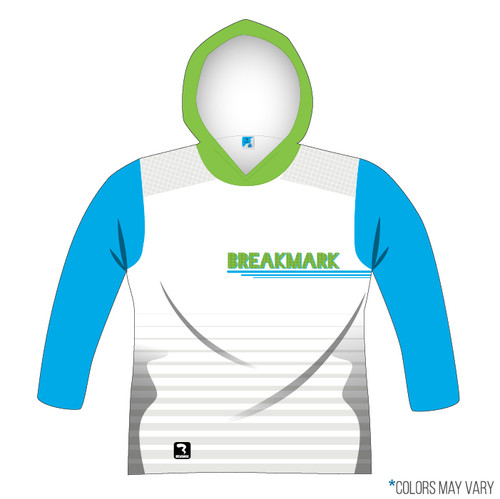 Breakmark Front Panel Long Sleeve Hood Front Light with Electric Blue Sleeves and Lime Hood