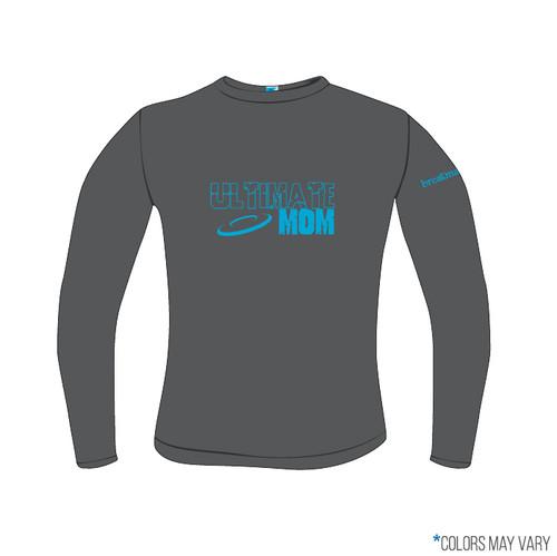 Ultimate Mom Grey Screen Print Long Sleeve