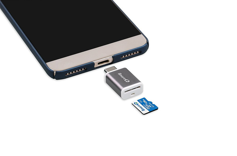 SmartQ C352 Type-C MicroSD Card Reader OTG with USB 3.0 Super Speed technology