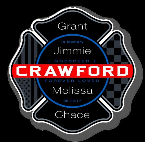 """Crawford Memorial - 3.5"""" Decal"""
