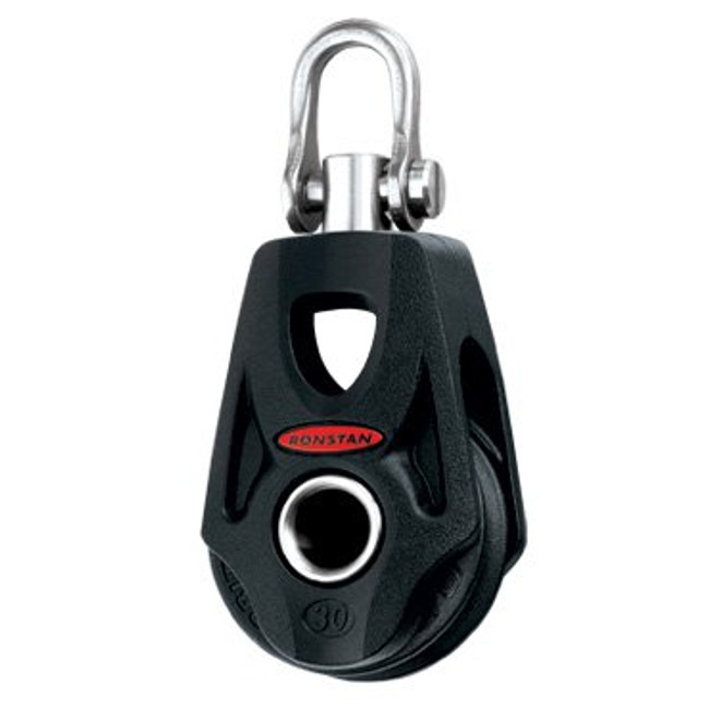 Ronstan Series 30 BB Orbit Block™, Single, Swivel Shackle Head, Becket
