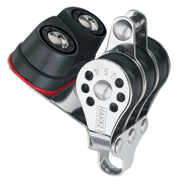 Harken Triple Micro Block w/Cam Cleat & Becket
