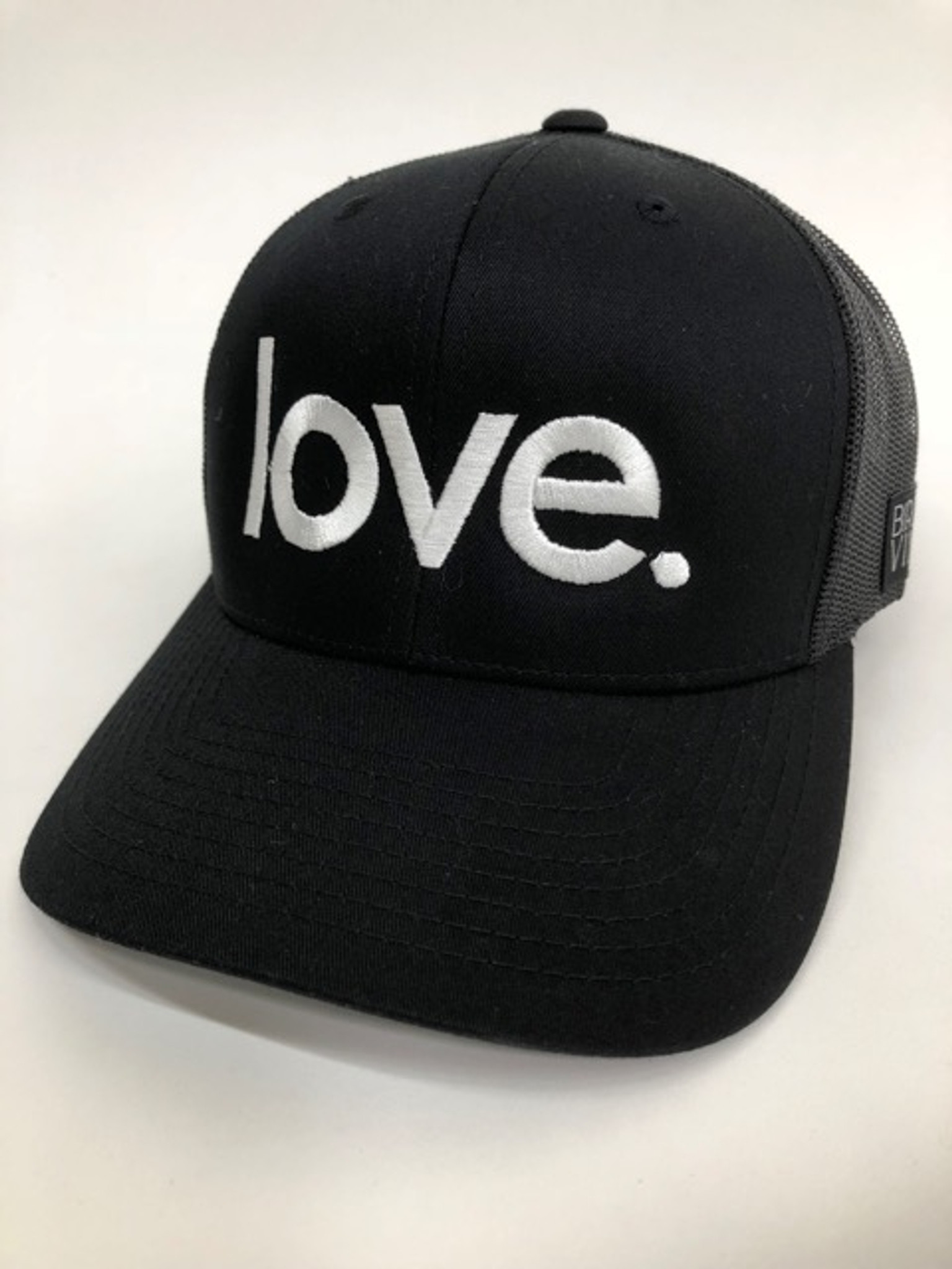 LOVE. EMBROIDERED TRUCKER HAT