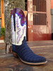 Lucchese Classic Suede Crocodile Deep Blue/ Size 9.5B