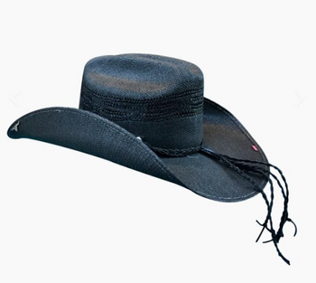 Black Coral Dust Straw Hat