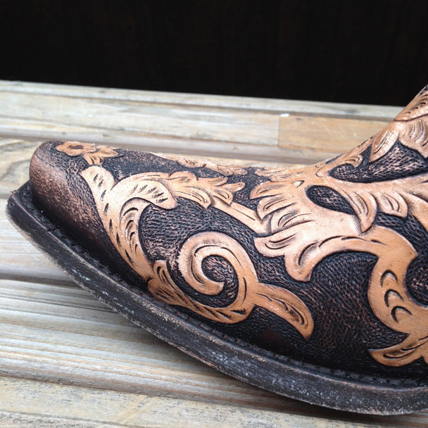 Detailed leather tooling