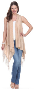 It's a Fringe thing...Jersey Vest with Long Silky Tassels