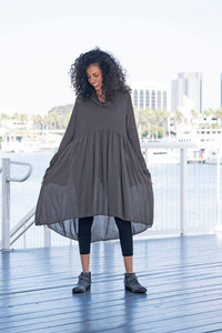 Bell Sleeve Cow Neck Tunic or Dress