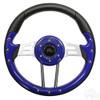 """Club Car Aviator 4 Blue Steering Wheel 13"""" Diameter"""
