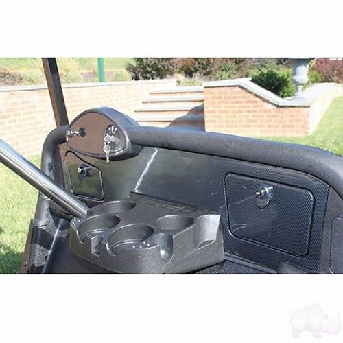 EZ-Go RXV Golf Cart Custom Dash Board Insert Carbon Fiber Lockable Compartment