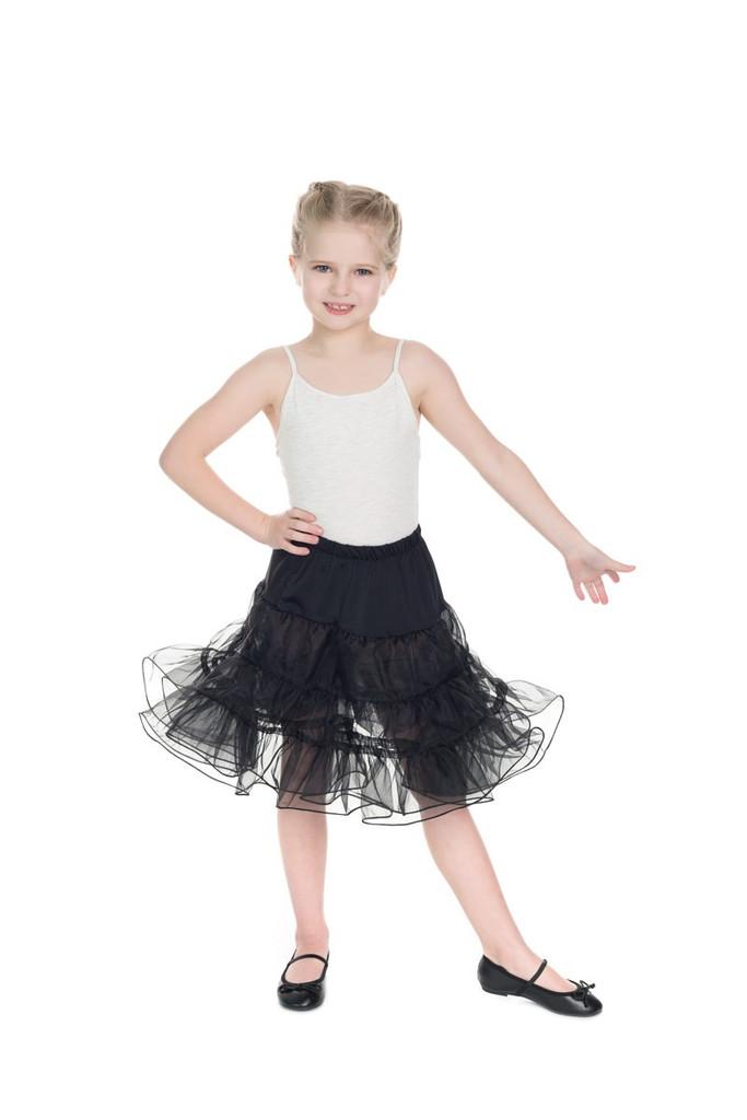 Childrens Petticoat - Black
