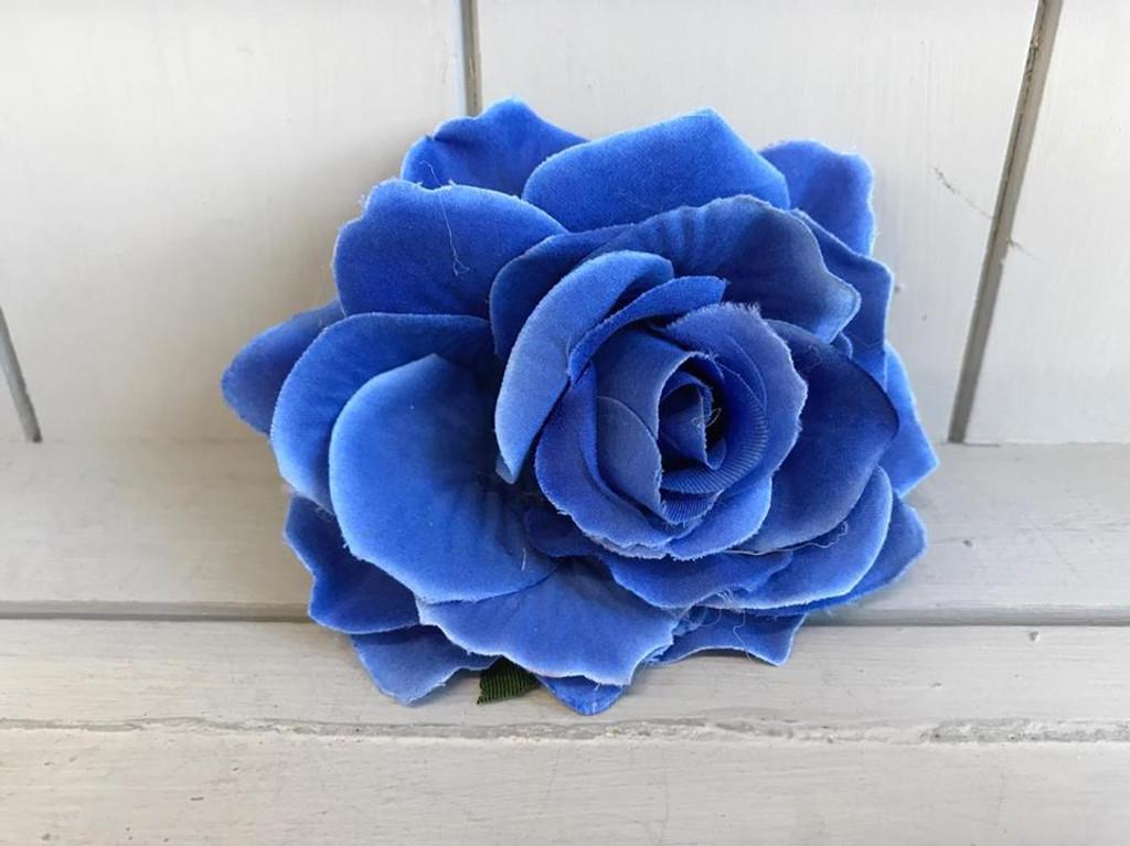Pin Up Hair Roses - Blue