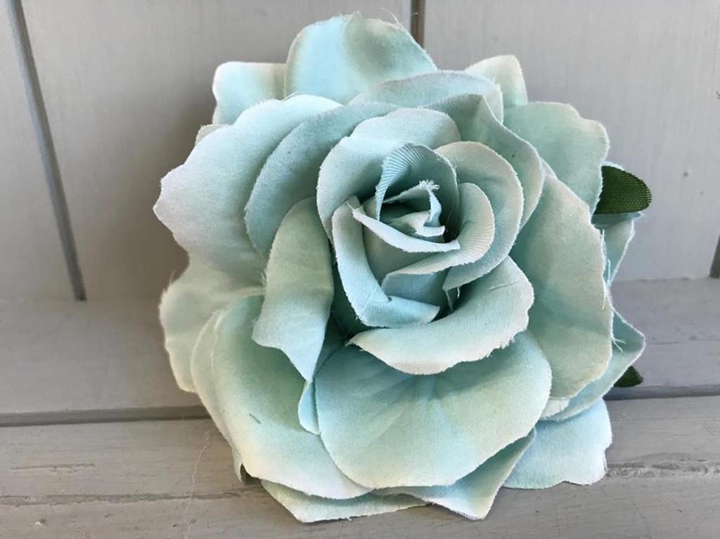 Pin Up Hair Roses - Light Blue