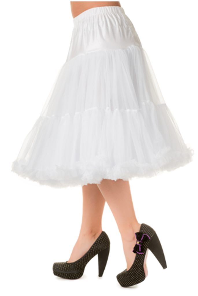 "25"" 1950s Soft Multi layered Petticoat - White"