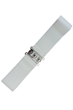 Vintage Stretch Belt - White