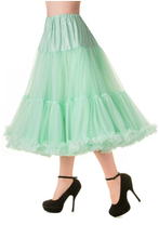 "25"" 1950s Soft Multi layered Petticoat - Mint"
