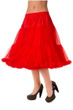 "25"" 1950s Soft Multi layered Petticoat - Red"