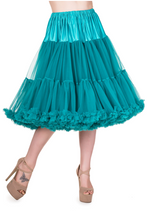 "26"" 1950s Soft Multi layered Petticoat Teal"