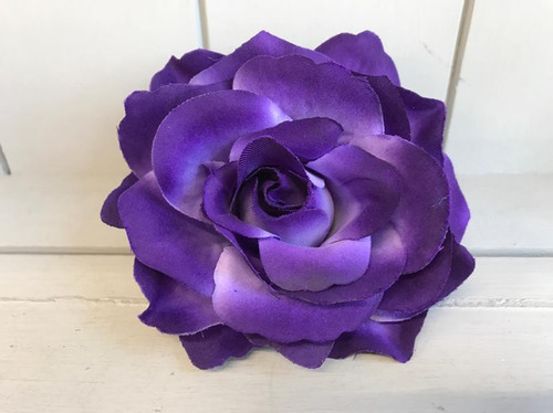 Pin Up Hair Roses - Dark Purple