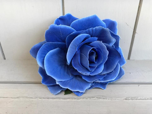 Pin Up Hair Roses - Blue