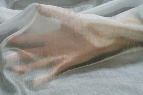 Margilan silk fabric. Open weave. Featherweight.