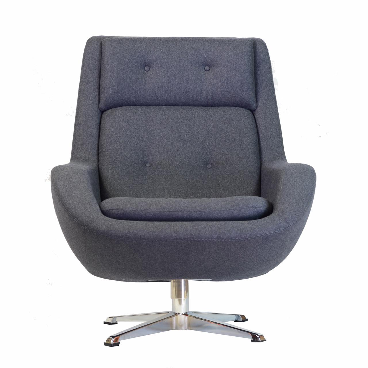 koppla swivel arm chair in dark grey