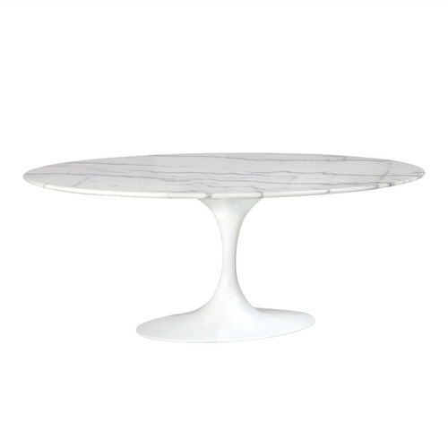 Saarinen Style Tulip Marble Coffee Table