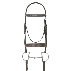 Ovation® Fancy Stitched Wide Noseband Padded Bridle
