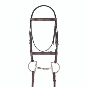 Camelot Gold Fancy Stitched Raised Padded Bridle