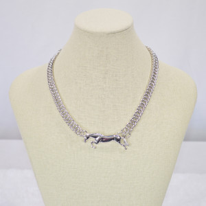 Michel McNabb Free Jump Horse Curb Chain Necklace