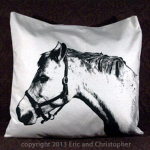 Eric & Christopher Large Pillow - Horse
